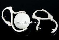 Tortite cercei argint 925 pentru margele si perle de 12-14mm - x1per