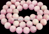 Pink kunzite, A+ grade, natural, round, 8.5mm