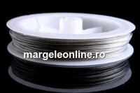 Sarma siliconata, argintiu,  0.38mm - 100m