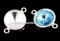 Baza link argint 925, rivoli 12mm - x1