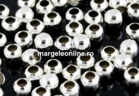 Margele decor, argint 925, 4mm, int.1.8mm - x10