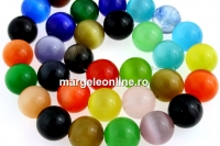Margele ochi de pisica, rotund, multicolor, 12mm