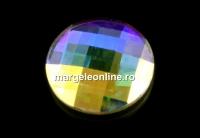 Swarovski, cabochon, aurore boreale, 10mm - x1