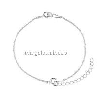 Bratara pentru linkuri, argint 925, 15+4.5cm - x1