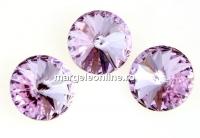 Swarovski, rivoli, violet, 12mm - x2