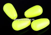 Perle Swarovski picatura, neon yellow, 11.5x6mm - x2