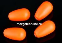 Perle Swarovski picatura, neon orange, 11.5x6mm - x2