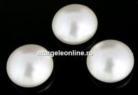 Swarovski, cabochon perla cristal, white, 8mm - x2