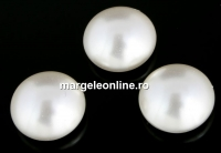 Swarovski, cabochon perla cristal, white, 10mm - x2