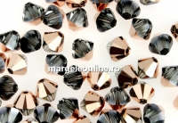 Swarovski, margele bicone, rose gold, 4mm - x20