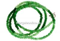 Tsavorite, green grossular garnet, natural stone, faceted rondelle , 2.5mm