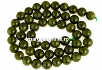Natural olive grossular garnet, round, 8.5mm