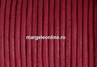 Snur piele naturala, roz vintage intens, 2mm - x1m