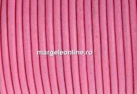 Snur piele naturala, roz, 2mm - x1m