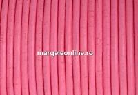 Snur piele naturala, roz intens, 2mm - x1m