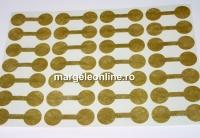 Etichete rotunde pentru bijuterii, bronz auriu - x28