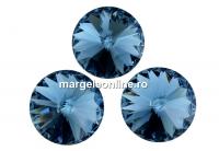 Swarovski, rivoli, denim blue, 10mm - x2