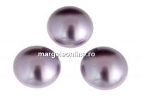 Swarovski, cabochon perla cristal, mauve, 6mm - x2