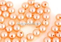 Perle Swarovski cu un orificiu, peach, 5mm - x4