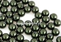 Perle Swarovski cu un orificiu, dark green, 5mm - x4
