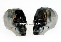 Swarovski, margele craniu, silver night, 15x13mm - x1