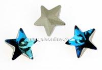 Swarovski, fancy star, bermuda blue, 10mm - x1