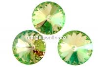 Swarovski, rivoli, luminous green, 10mm - x2