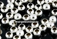 Margele décor, argint 925, 2.5mm, int.1.2 - x20