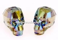 Swarovski, margele craniu, iridescent green, 15x13mm - x1