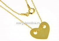 Link inima + lantisor, argint 925 placat cu aur, 15x12mm - x1