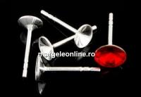Tortite cercei argint 925 cu tija, rivoli 4.5mm, argint 925 - x1per