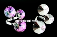 Baza inel, argint 925, 3 rivoli, 12-14-16mm - x1