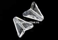 Swarovski, margele Arrow, crystal, 12mm - x2