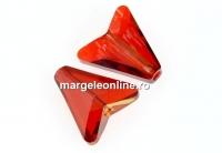 Swarovski, margele Arrow, red magma, 12mm - x2