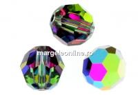 Swarovski, margele, rotund fatetat, vitrail medium, 8mm - x2