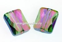 Swarovski, margele Mini rectangle, paradise shine, 8x6mm - x2