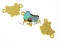 Baza link argint 925 placat cu aur, cabochon fundita 9mm - x1