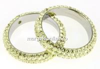 Swarovski, pave ring, jonquil, 18.5mm - x1