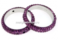 Swarovski, pave ring, amethyst, 18.5mm - x1