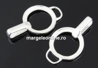 Pandantiv disc, argint 925, 26mm - x1