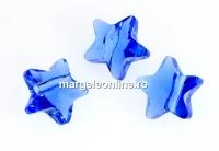Swarovski, margele stea, sapphire, 12mm - x2