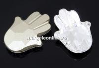 Swarovski, fancy Fatima Hand, crystal, 18mm - x1