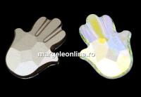Swarovski, fancy Fatima Hand, aurore boreale, 18mm - x1