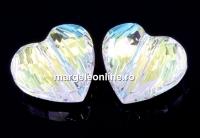 Swarovski, margele inima, aurore boreale, 8mm - x2