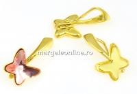 Baza pandantiv argint 925 placat cu aur pentru  fluture 8mm - x1