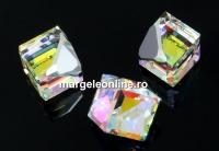 Swarovski, cabochon cub, aurore boreale calvz, 4mm - x1