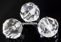 Swarovski, margele, rotund fatetat, crystal, 10mm - x2