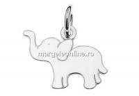 Pandantiv elefantel argint 925, 15mm  - x1