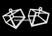 Pandantiv hexagon argint 925, 17.5x15mm  - x1