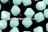 Swarovski, margele bicone, mint alabaster, 8mm - x10